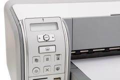 Impresora para imprimir el texto Educación y oficina Foto de archivo
