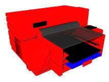 Impresora roja Fotos de archivo libres de regalías