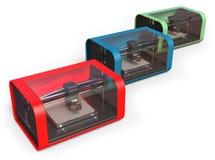 impresoras 3D Imagen de archivo libre de regalías