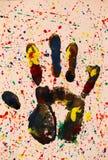 Impressão colorida abstrata da mão imagens de stock royalty free