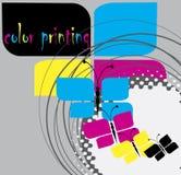 Impressão a cores ilustração royalty free