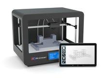 impressão 3D ilustração do vetor
