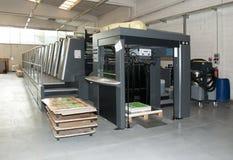 Impressão da imprensa - máquina deslocada imagens de stock