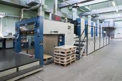 Impressão da imprensa - máquina deslocada fotografia de stock