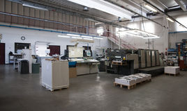 Impressão da imprensa (printshop) - offset imagem de stock