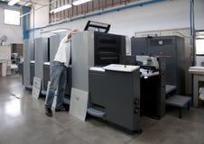 Impressão da imprensa (printshop) - offset fotografia de stock