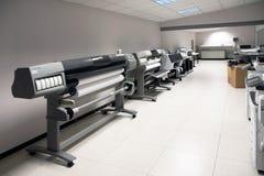 Impressão de Digitas - impressora larga do formato Imagem de Stock Royalty Free