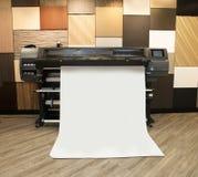 Impressão de Digitas - impressora larga do formato imagens de stock