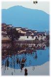 Impressão de Hongcun, Anhui, China Fotos de Stock