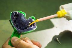 Impressão dental imagem de stock
