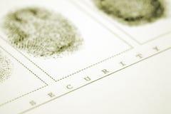 Impressão digital Imagem de Stock