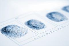 Impressão digital Fotografia de Stock