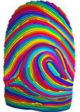 Impressão digital ilustração stock