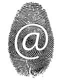 Impressão digital com símbolo Imagem de Stock Royalty Free