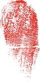 Impressão digital do assassinato Fotos de Stock Royalty Free