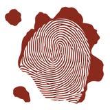 Impressão digital do sangue do vetor Imagem de Stock