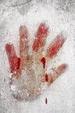 Impressão do sangue fotos de stock