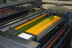 Impressão - imprensa deslocada, detalhe Imagem de Stock