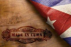 Impressão quente feita em Cuba Fotografia de Stock