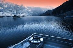 Impressão suíça do lago foto de stock