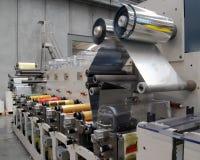Impressão UV da imprensa do flexo Fotografia de Stock