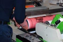 Impressão UV da imprensa do flexo Imagem de Stock Royalty Free