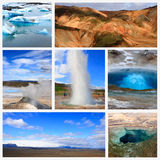 Impressões de Islândia Fotos de Stock Royalty Free