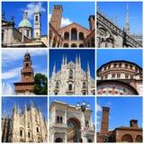 Impressões de Milão fotografia de stock royalty free