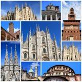 Impressões de Milão fotos de stock
