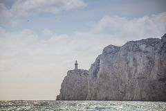 Impressões de uma viagem do barco em torno da ilha de Capri na mola, Itália foto de stock royalty free