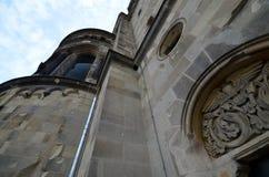 Impressões do Kaiser Wilhelm Memorial Church, Gedaechtniskirche em Berlim, Alemanha foto de stock royalty free