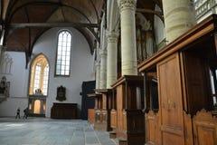 Impressões do Oude Kerk Igreja velha em Amsterdão, Países Baixos Imagens de Stock Royalty Free