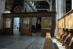 Impressões do Oude Kerk Igreja velha em Amsterdão, Países Baixos Imagem de Stock Royalty Free