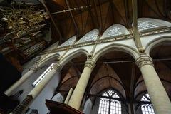 Impressões do Oude Kerk Igreja velha em Amsterdão, Países Baixos Imagem de Stock
