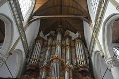 Impressões do Oude Kerk Igreja velha em Amsterdão, Países Baixos Fotografia de Stock Royalty Free