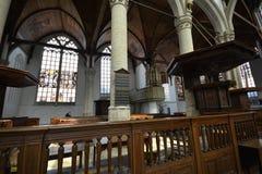 Impressões do Oude Kerk Igreja velha em Amsterdão, Países Baixos Fotos de Stock