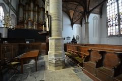 Impressões do Oude Kerk Igreja velha em Amsterdão, Países Baixos Imagens de Stock