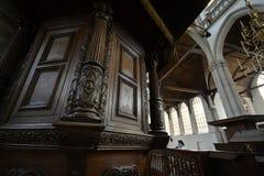 Impressões do Oude Kerk Igreja velha em Amsterdão, Países Baixos Fotos de Stock Royalty Free