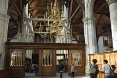 Impressões do Oude Kerk, igreja velha em Amsterdão, Países Baixos Fotografia de Stock