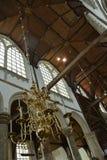 Impressões do Oude Kerk, igreja velha em Amsterdão, Países Baixos Foto de Stock Royalty Free