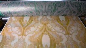 Impress?o do papel de parede, processo de manufatura do papel de parede, usina do papel de parede filme