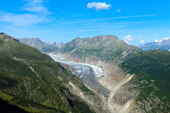 The impressing Aletsch glacier Royalty Free Stock Photography