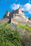 The impressing Edinburgh castle Stock Photography