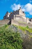 The impressing Edinburgh castle Stock Photography