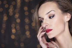 Impressing with her delicate but sparkling beauty Royalty Free Stock Photos