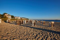 Impression of baltic town Seebad Bansin on Usedom royalty free stock photo