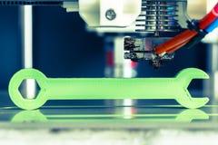 impression 3d avec le filament vert clair Images libres de droits