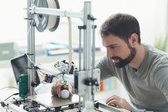 impression 3D dans le laboratoire Photo stock