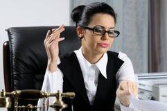 Impression de femme de gestionnaire photos libres de droits