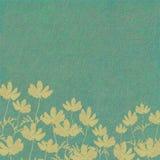 Impression de fleur sur le fond bleu lavé Image libre de droits